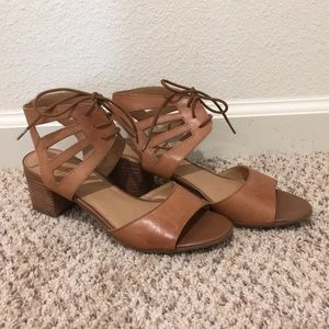 Franco Sarto Women's Lace up heel sandals size 8*